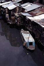 Vietnam 1971- Boat, Shanty Homes - Ben Nghe Channel - Saigon