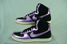 New Womens 7.5 NIKE Air Force 1 Light High Purple Black Shoes $100 525395-050