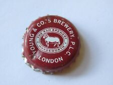 Old BEER Bottle Crown Cap ~ YOUNG & CO The Ram Brewery: London, ENGLAND ~ CLOSED