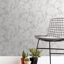 Flat Faux Marble Effect. Fine Decor Marblesque Plain White Wallpaper FD42274