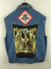 Chaleco vaquero denim custom MANOWAR heavy rock metal L
