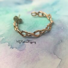 Excellent Tiffany & Co. Rubedo Infinity Hoop Earrings ONE SIDE ONLY