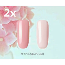 2X RS-Nail 115134 Gel Nail Polish UV LED Shiny Nude Pink Soak Off Professional
