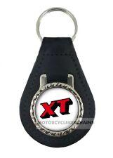 YAMAHA XT real leather motorcycle keyring keychain
