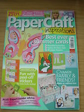 PAPERCRAFT INSPIRATIONS CRAFT MAGAZINE JULY 2008 ART DECO CARDS SUMMER FLOWERS