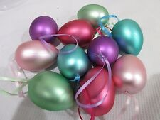 Easter Pastel Eggs Ornaments Tree Decorations Decor Qty of 10