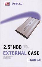 6 X 2.5 Sata A Usb Disco Duro Caddy de disco cubierta rígida Caja Azul/rojo Usb 2.0 minorista