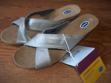 Dr. Scholls Metallic Boardwalk Wedge Sandals Womens Size 6 BNWT