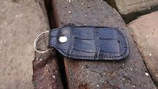 American Alligator leather Key Fob Swamp Skin Gator Hide Cognac  MZ