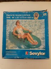 "Vintage Sevylor French Chaise Lounge SP8L 68""x32"""