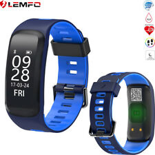 Lemfo Bluetooth Impermeable Reloj Inteligente Heart Rate Fitness Sport SmartBand