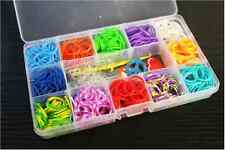 Plastic 15 Slots Adjust Box Case Storage For Rubber Bands Loom Tool Kits