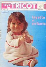 Revue de mode Catalogue de tricot - Tout le Tricot n°170 - 1980 - Layette enfant