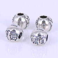 4 PCS 925 Stamped Sterling Silver 6x5mm Vintage Celtic Bead Charm WSP273