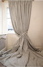 LAST PAIR OF 100% Linen Interlined Lined BESPOKE 3.05m LONG 2.80m Wide CURTAINS