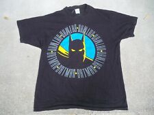 Vintage Batman Black T Shirt Jg Hook Men's Size Xlarge Made in Usa 100% Cotton