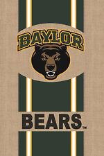 "New listing Baylor Bears Burlap Licensed Ncaa House Flag Incensed 2 Sided 28"" x 44"""