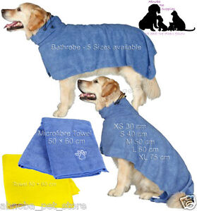 Dog Drying Coat   Bathrobe   Towel Easy Dry Ultra Absorbant After Walk Bath Show