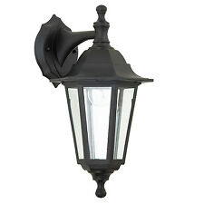 Endon Bayswater outdoor wall light IP44 60W Black polypropylene & clear glass