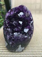 Deep purple Uruguayan amethyst quartz crystal agate geode cluster