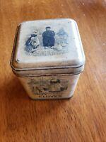 Vintage JL Clark Clove Spice Tin, Dutch Motif