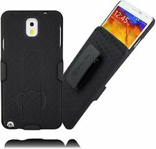 Stalion® Secure Belt Clip Holster Shell Case Kickstand for Samsung Galaxy Note 3