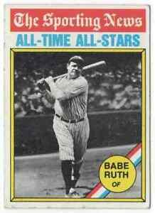 BABE RUTH ATG - 1976 TOPPS #345 !