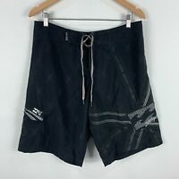 Billabong x Andy Irons Board Shorts Mens 33 Black Drawstring