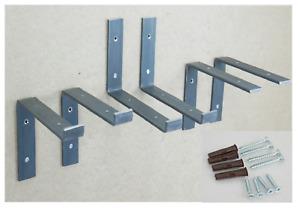 Scaffold Board Metal Brackets Sturdy 40X6 mm Iron Wall Shelf Country House