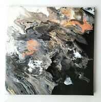 "Painting Acrylic on Canvas Original Abstract Fluid Art 12"" x 12"""