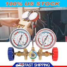 HVAC AC Refrigeration Kit A/C Manifold Gauge Set Air R12 R22 R134a 410a R404z