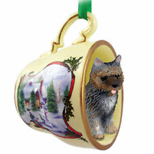 Cairn Terrier Christmas Teacup Ornament Brindle