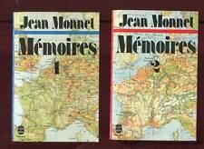 JEAN MONNET: MEMOIRES TOMES 1 ET 2. LIVRE DE POCHE. 1978.