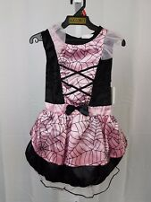 Pink Spider Witch Infant, Toddler Halloween Costume Dress Only 4-6 Years #5303