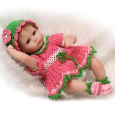 "Reborn Baby 17"" Handmade Vinyl Silicone Dolls Lifelike Doll Girl Preemie Tina"