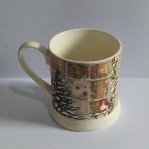 Tesco Mug - Cotswold Stoneware Christmas Scene with Dog Tankard Style