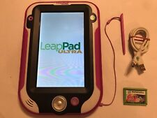 PINK LEAP FROG LEAPPAD LEAP PAD ULTRA CHILDRENS TABLET CONSOLE +my little pony +