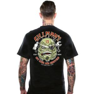 Lucky 13 Men's T-Shirt Gilmans Hot Rod Custom Kustom Kulture Rockabilly