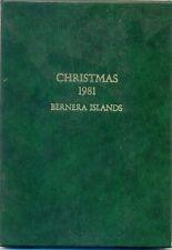 SCOTLAND BERNERA FOLDER  CHRISTMAS 1981  GOLD    MNH
