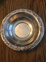 "Vintage Sheridan Silverplate Round Ornate Pattern on Rim 6.5"""