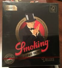 Smoking King Size Deluxe Ultralight Rolling Papers 25 Packs(1/2 Box)