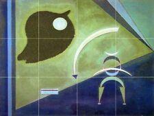 Abstract Art Tile Mural Kitchen Bathroom Wall Backsplash Art 24x18