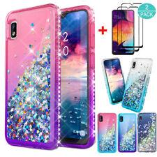 For Samsung Galaxy A10E/A20/A30/A50/A20S Glitter TPU Case Cover+Screen Protector