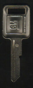 Chevrolet 1968 1972 1976 1980 1987 1988 1989 B50 GM Truck Ignition C Key Blank