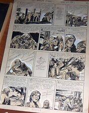 "1940s BRUNO PREMIANI ORIGINAL ART PAGE ADVENTURE COMIC ""EL 93º"" ARGENTINA"