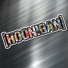 (1) HOONIGAN car Sticker Auto Race Drift JDM Decal Boost Tuner Honda STICKERBOMB