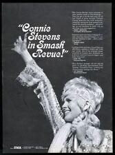 1970 Connie Stevens photo concert booking trade print ad
