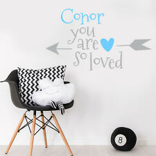 Custom Little Baby Boy Name Personalise Bedroom Wall Sticker Nursery Decal Decor