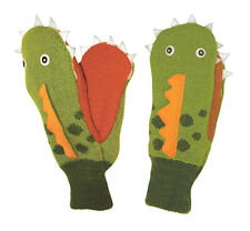 LOVELY Dinosaur 3-6 years Kidorable Mittens Childrens Gloves Boys Green Dino