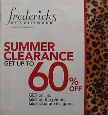 END OF SEASON SALE 2009  FREDERICK'S OF HOLLYWOOD Catalog